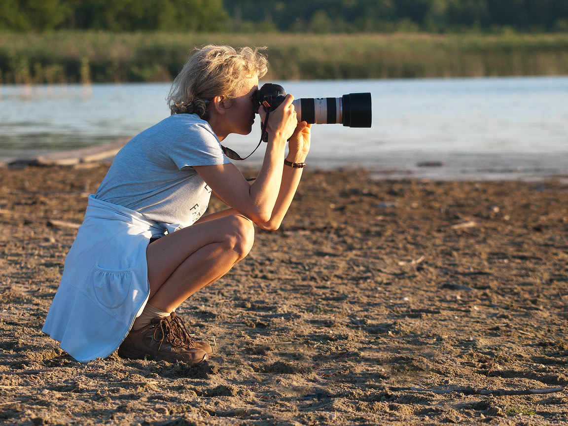 Fotograf Edyta Trojańska-Koch podczas sesji zdjęciowej