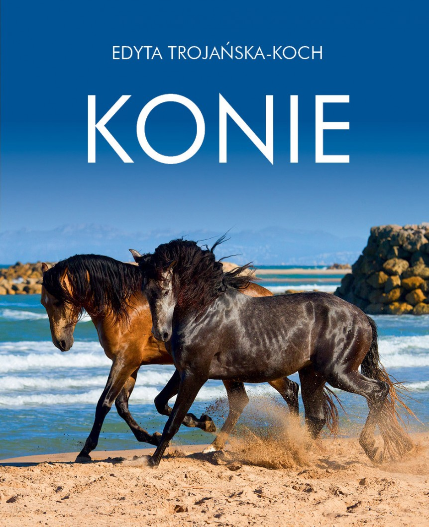 The cover of a photographic book Horses by Edyta Trojańska-Koch