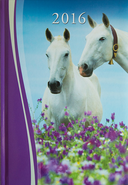 Cover of agenda 2016 with Lusitano mares