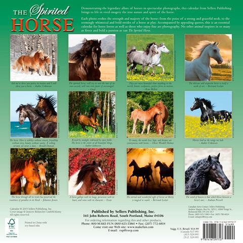 Back cover of Spirited Horses calendar 2016