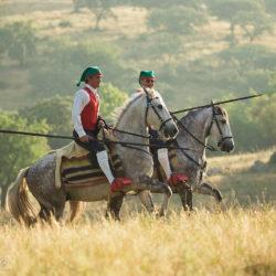 Camperos na koniach lusitano